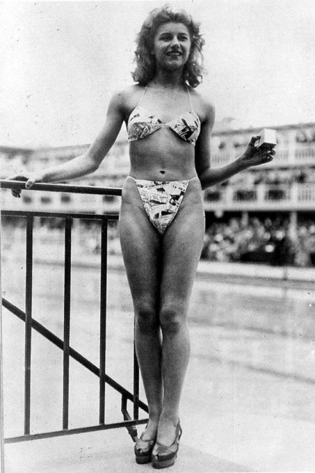 bikini diperkenalkan kepada orang awam