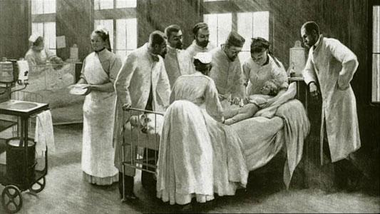 bilik pembedahan zaman dulu