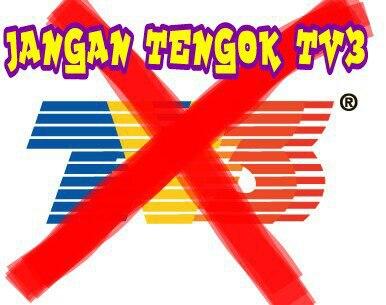 boikot tv3 rtm utusan
