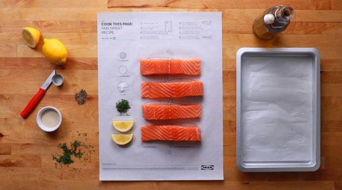 boleh letakkan ikan di atas kertas tersebut