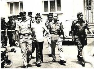 botak chin ditahan dan ditangkap ke penjara