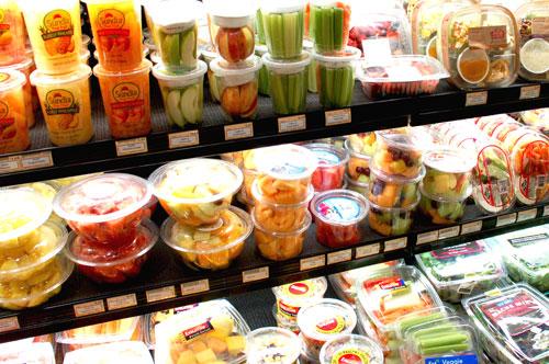 buah siap potong sayur siap basuh sedia untuk dimakan keracunan makanan