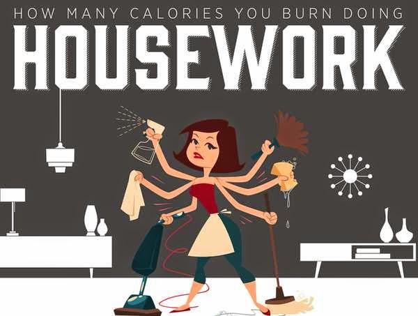buat kerja di rumah juga boleh bakar kalori