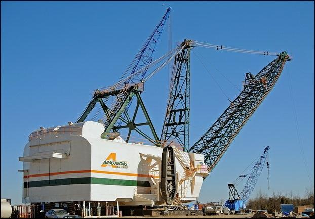 bucyrus 2570w walking dragline mesin ciptaan manusia paling besar di dunia