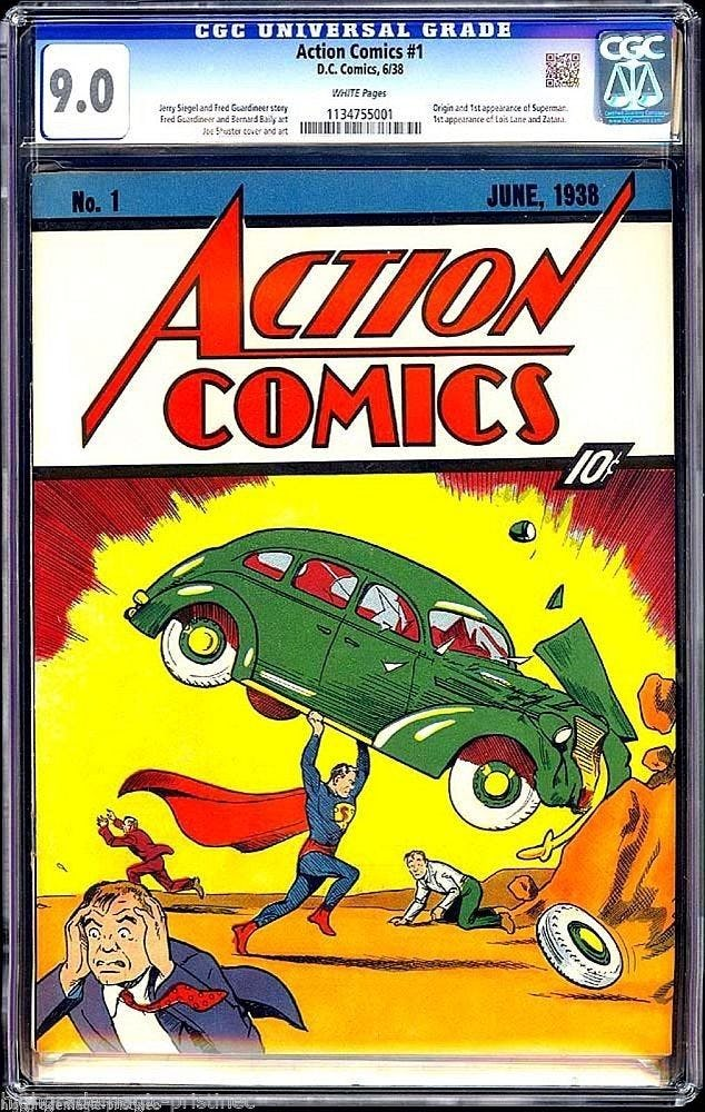 buku komik superman paling mahal di dunia