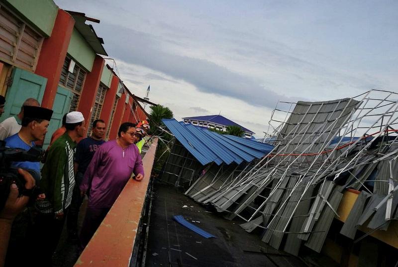 bumbung runtuh perlu dana pibg
