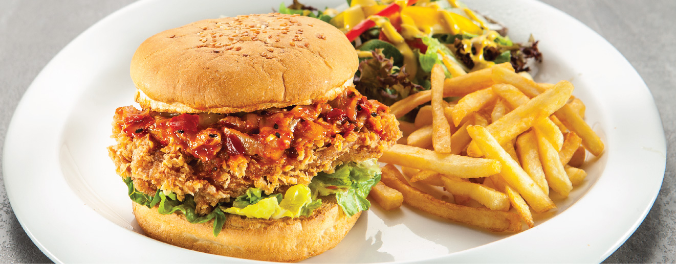 burger kimchi di bbq chicken halal korea restoran