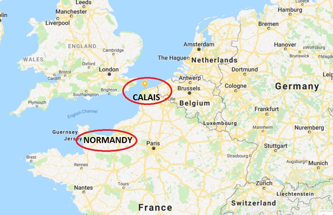 calais dan normandy