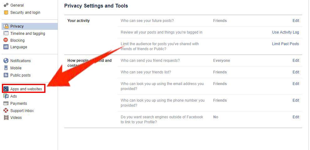 cara menyekat dan melihat semua aplikasi di facebook yang menjejaki maklumat peribadi anda 4