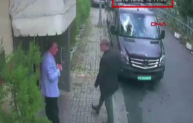 cctv menampakkan jamal di kedutaan saudi