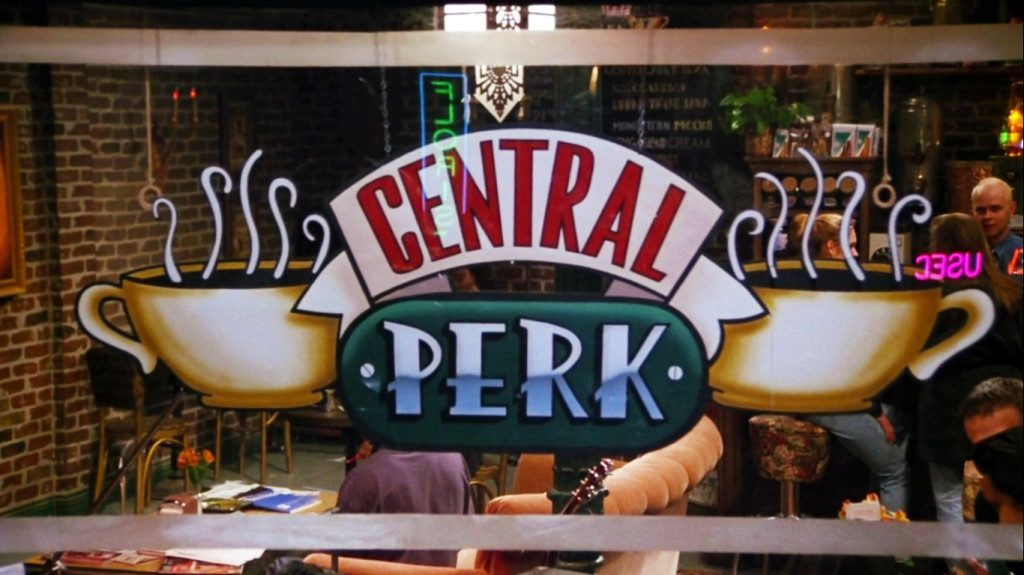 central perk kafe di dalam sitcom friends