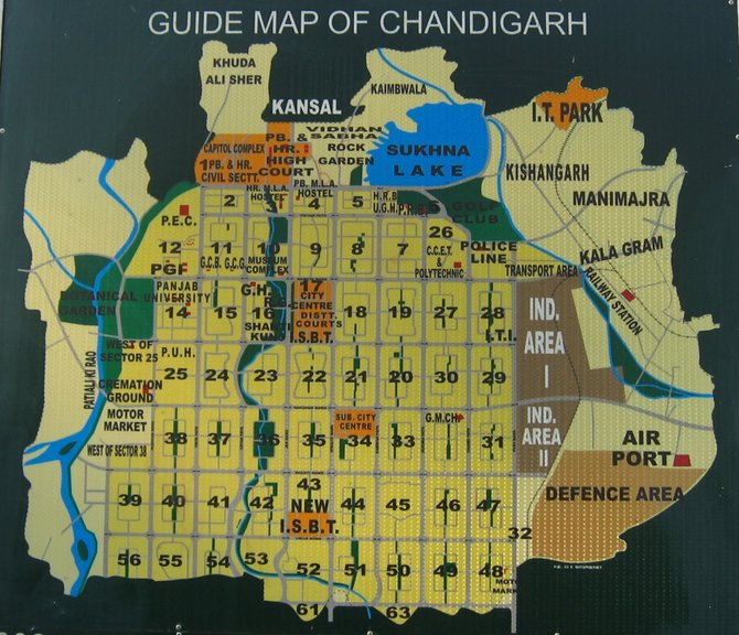 chandigarh guide map