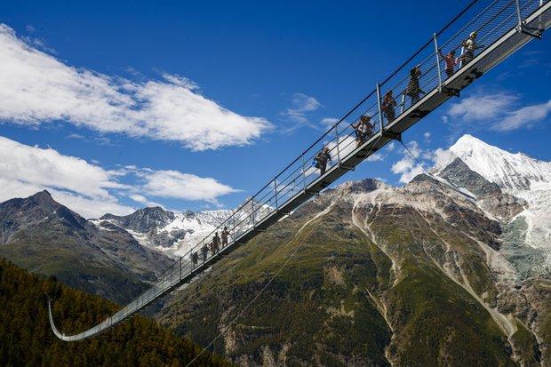 charles kuonen jambatan gantung terpanjang di dunia