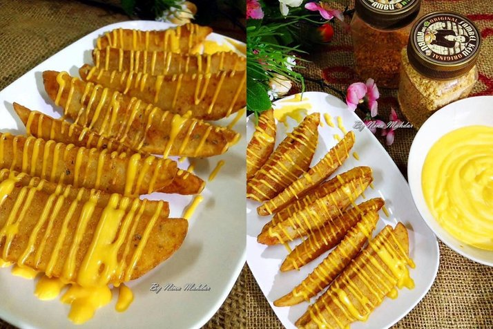 cheesy wedges homemade 92