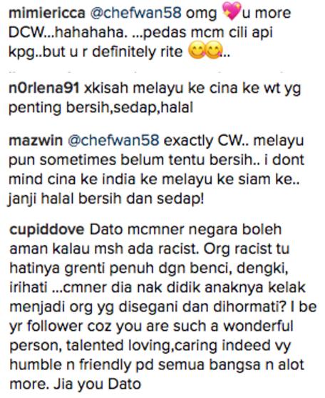 chef wan hentam komen pengikut di instagram 4