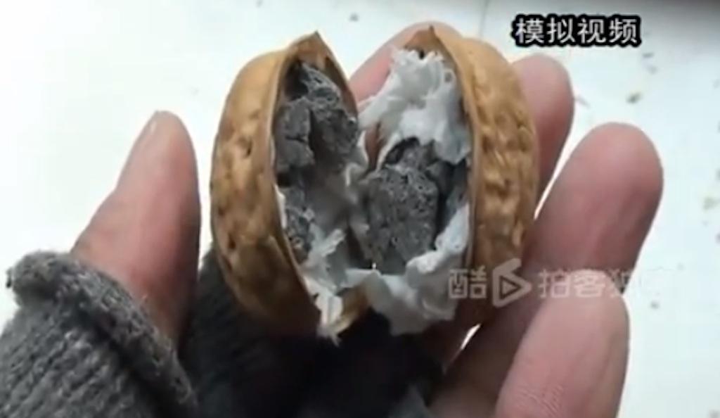 china kacang walnut tiruan palsu