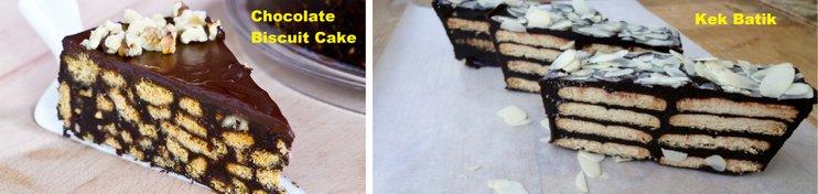 chocolate biscuit cake kek batik