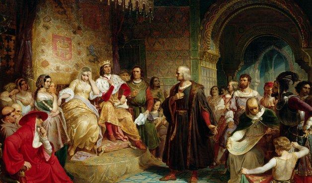 christopher columbus menemui raja ferdinand dan ratu isabella bagi tajaan ke asia