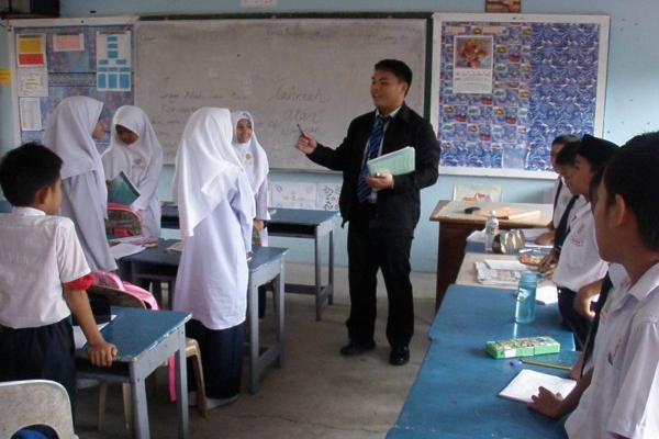 cikgu mengajar kelas