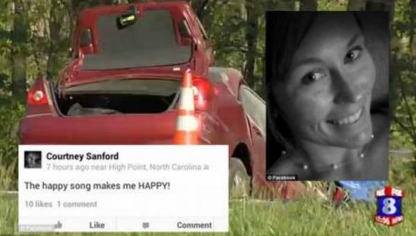 courtney sanford selfie dalam kereta