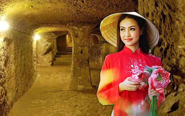 cu chi cave vietnam girl