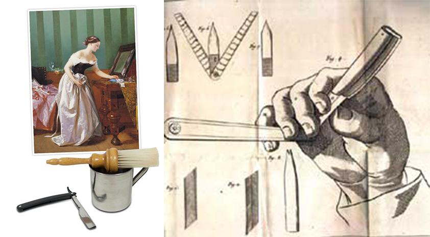 cukur bulu tahun 1700an