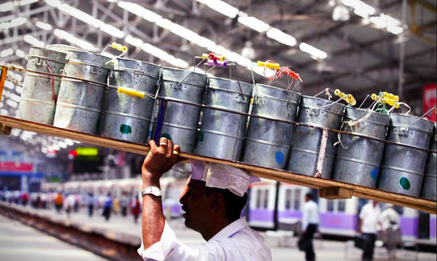dabbawala servis hantar makanan mumbai india