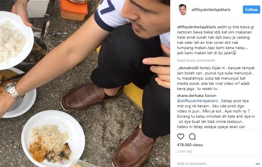 datuk aliff syukri makan tepi jalan ini komen pedas chef wan 3