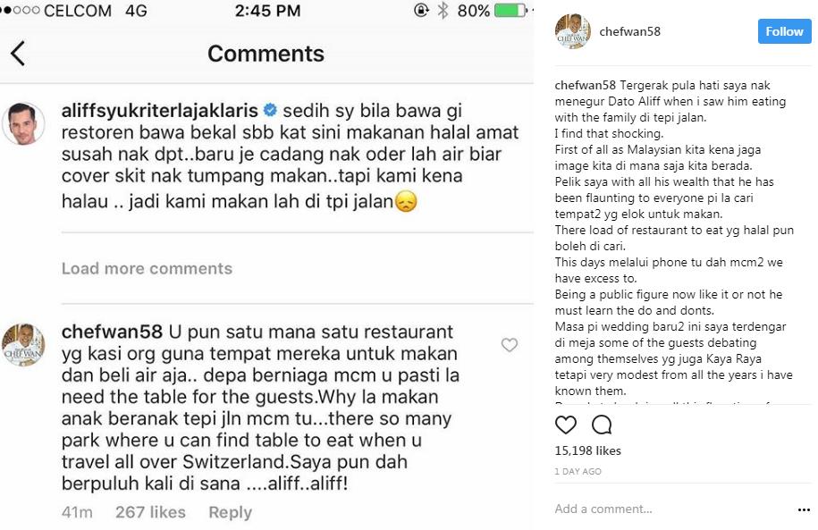 datuk aliff syukri makan tepi jalan ini komen pedas chef wan 4 672