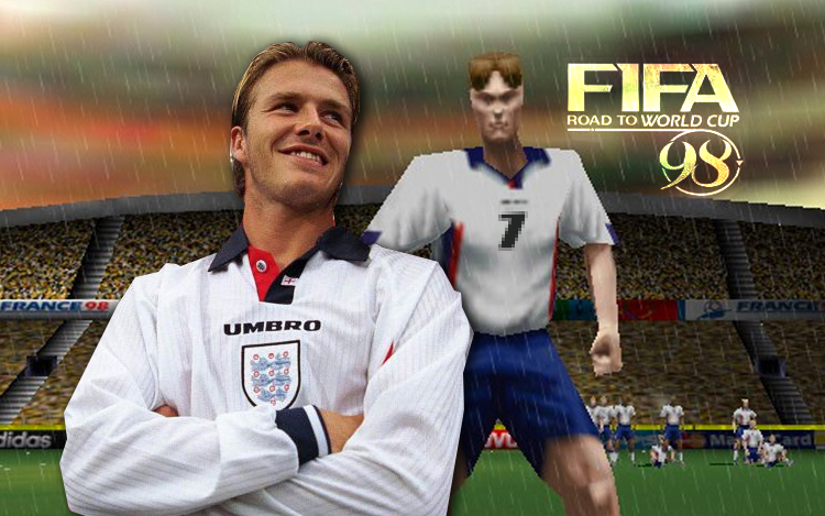 david beckham poster fifa 98 road to world cup games 154