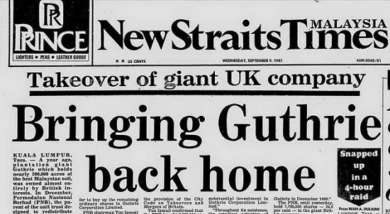 Dawn Raid: Peristiwa Dramatik Keberanian Kerajaan Malaysia Merampas Syarikat Guthrie Daripada Penjajah British Pada 1981
