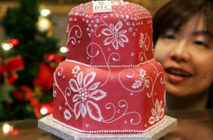 diamond fruitcake pencuci mulut paling mahal di dunia