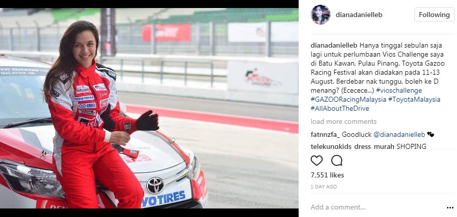 diana danielle tamat pengajian racing school bakal masuk litar 4