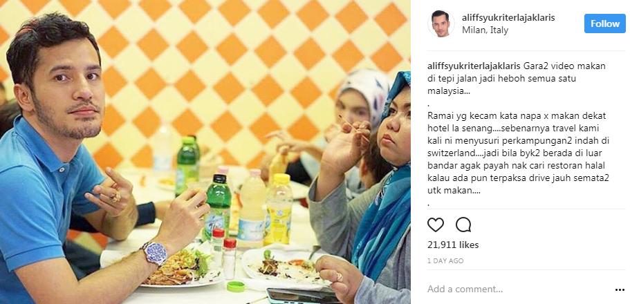 dikritik makan tepi jalan datuk aliff syukri tampil balas kenyataan chef wan 2
