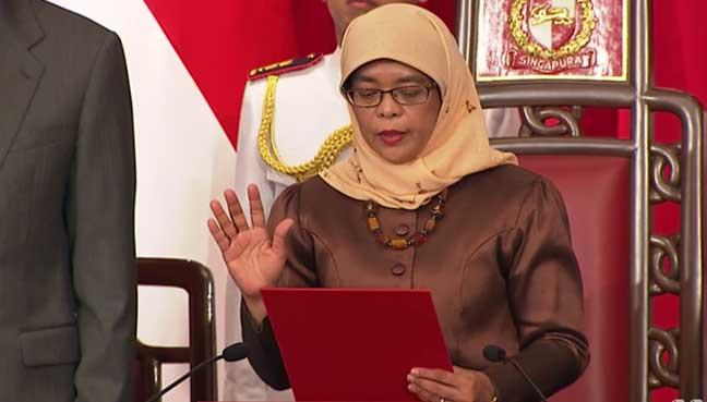 dilantik sebagai presiden singapura ke 8
