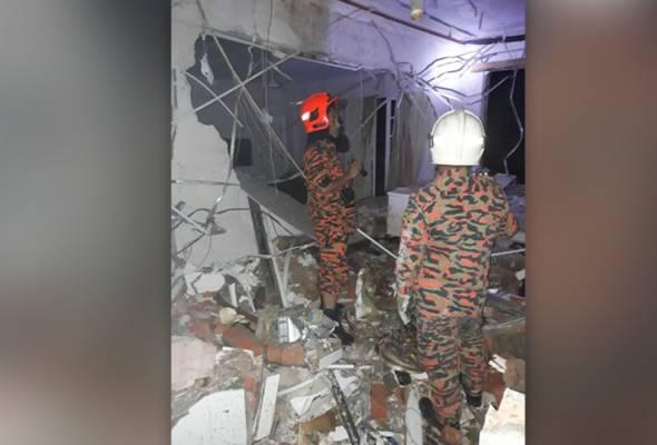 dinding hotel di bukit tinggi runtuh 2 cedera dan 90 penghuni berpindah