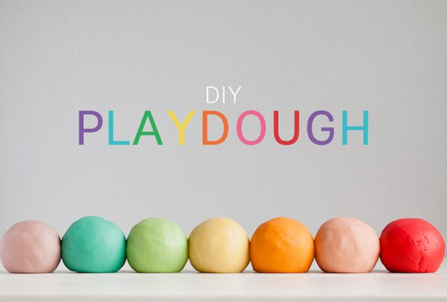 diy homemade playdoh play dough