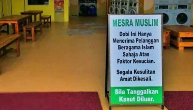 Image result for Salahkah Buka Kedai Dobi Hanya Untuk Muslim Sahaja?