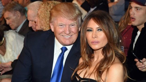 donald trump dan isterinya melania trump