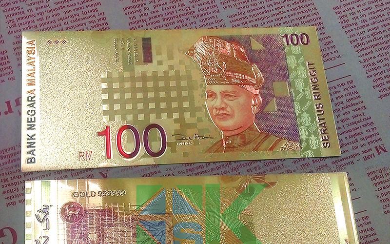 duit rm100 disaluti emas
