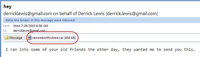 email yang disangka daripada kawan
