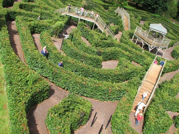 escot gardens maze