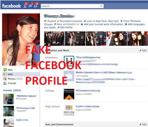 fake profail facebook scammer