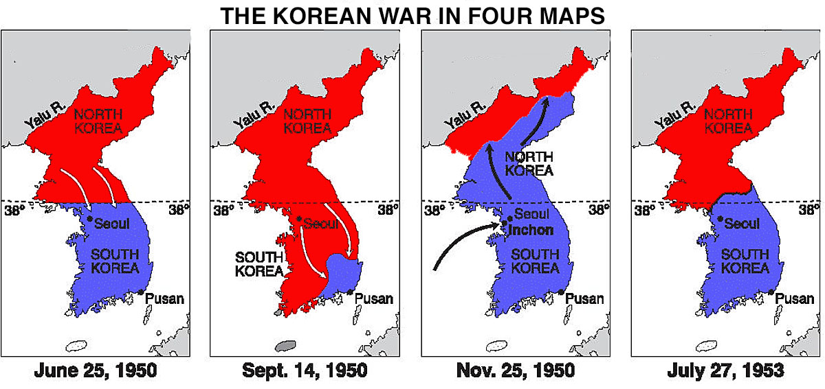fasa perang korea perang bersaudara selama 3 tahun