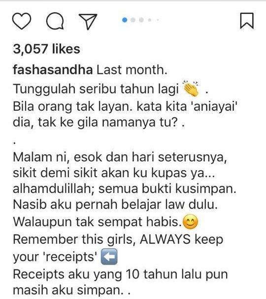 fasha sandha dedah bukti perbualan whatsapp jejai yang mengejutkan 10