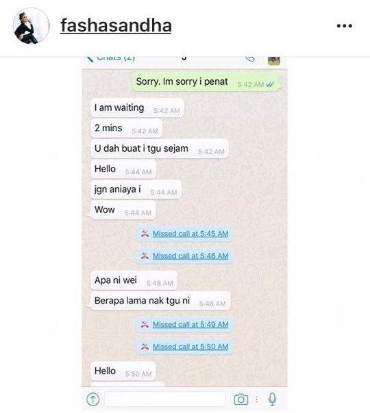fasha sandha dedah bukti perbualan whatsapp jejai yang mengejutkan 4