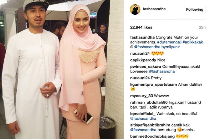 fasha sandha jelas hubungan dengan ahli perniagaan 1