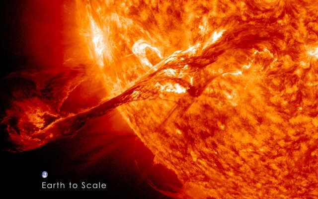 fenomena ribut solar letupan matahari boleh mengenai bumi