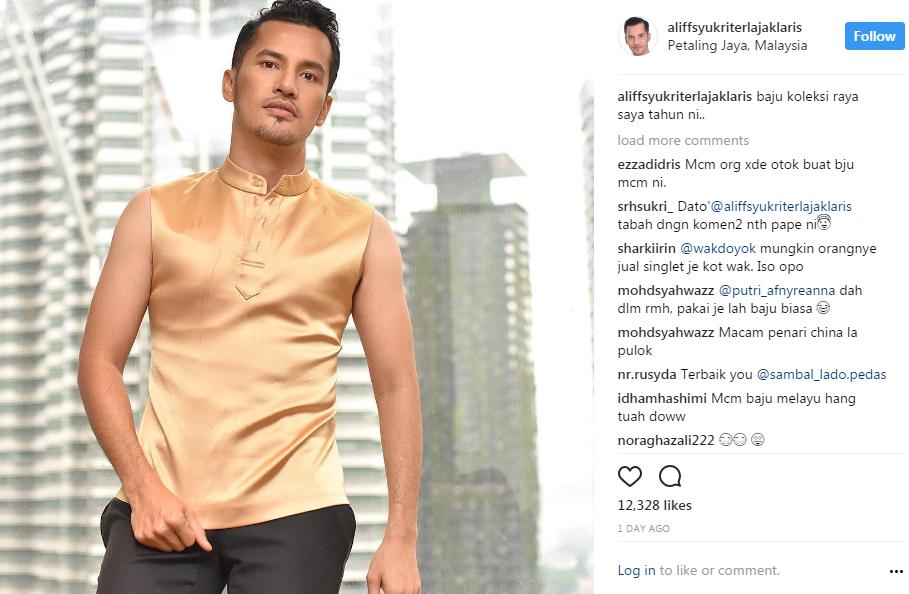 fesyen baju raya datuk aliff syukri dihentam ramai 2