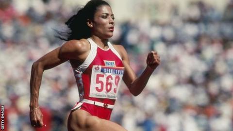 florence griffith joyner olimpik atlit